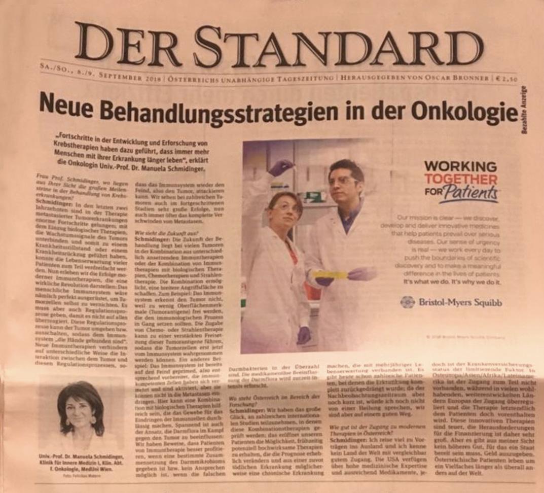 Dr. Manuela Schmidinger Interview im Standard